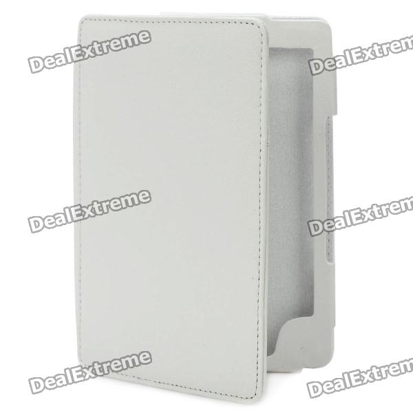 Protective PU Leather Case for Kindle 4 - White