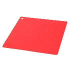 Square Shaped Silicone Heat Resistant Pad Mat - Red