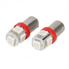 BA9S Red 1.5W 5-SMD 70LM Car Light Bulbs (DC 12V/Pair)