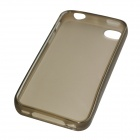 Protective Matte Frosted TPU Back Case for Iphone 4 / 4S - Grey