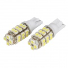 T10 3528 28-SMD 3W White 6500K Car LED Light Bulb (DC12V/Pair)