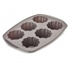 6 Cup Silicone Muffin Tray Cupcake Cake Case Mold - Grey