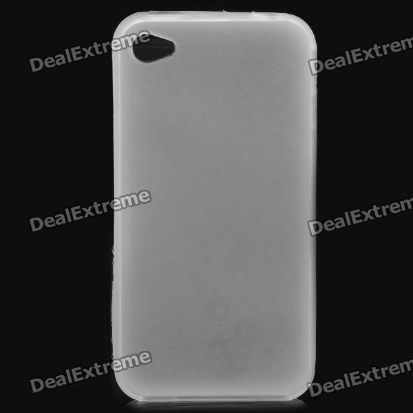 Protective Matte Frosted TPU Back Case for Iphone 4 / 4S - White