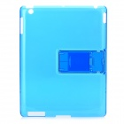Simple Protective Plastic Back Case for The New iPad - Blue