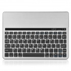 Bluetooth V3.0 78-Key Wireless Keyboard for iPad 1/2/New iPad + Tablet - Black + Silver