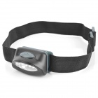 5-LED 7-Mode Blue Light Elastic Strap Headlamp - Black (3 x AAA)