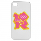 London 2012 Summer Olympics Protective Case for iPhone 4 / 4S - Official 2012 Logo (White)