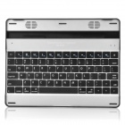 Bluetooth V3.0 78-Key Wireless Keyboard with Speaker for iPad 1/2/New iPad - Black + Silver