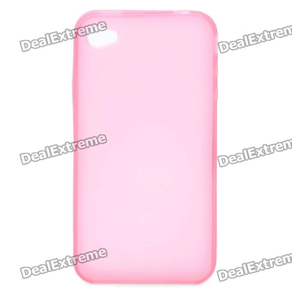 Frosted Protective TPU Back Case for Iphone 4 / 4S - Transparent Pink