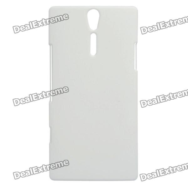 Protective Sand Blasting Plastic Back Case for Sony Ericsson Xperia S/LT26i - White cell phone brand new repair parts for sony xperia s lt26i backlight back light flex refurbishment replacement
