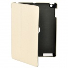Ultra Thin Protective PU Leather Case w/ Smart Cover for iPad 2 / The New iPad - Beige
