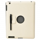 Ultra Thin Protective PU Leather Case for Ipad 2 / The New Ipad - Beige