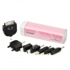 CAGER B10 Portable Rechargeable 2200MA Battery Charger for Cell Phone + More - Pink