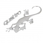 3D Unique Silver Gekko Japonicus Car Body Sticker Decoration for Audi Quattro