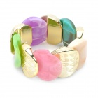 Fashion Colors Acrylic Wrist Band Bracelet - Multi-Color