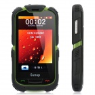 "Sunup Y168A Rugged GSM Bar Phone w/ 3.6"" Resistive Screen, Dualband, Dual SIM and FM - Black + Green"