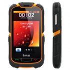 "Sunup Y168A Rugged GSM Bar Phone w/ 3.6"" Resistive Screen, Dualband, Dual SIM, FM - Black + Orange"