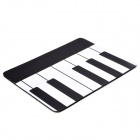 Creative Piano Style Rubber Mouse Pad Mat - Black + White