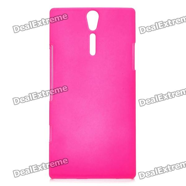 Protective Sand Blasting Plastic Back Case for Sony Ericsson Xperia S/LT26i - Rose Red стоимость
