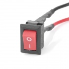 DIY Mini Rocker Switch Button - preto + vermelho
