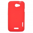 Protective Silicone Back Case for HTC One X - Red