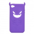 Devil Style Protective Silicone Back Case for Iphone 4 / 4S - Purple