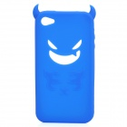 Devil Style Protective Silicone Back Case for Iphone 4 / 4S - Blue