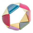 Colorful Triangle Style Acrylic Piece Bracelet