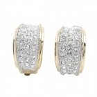 Fashion Imitation Diamond Clip-On Earring - Golden + Silver (Pair)