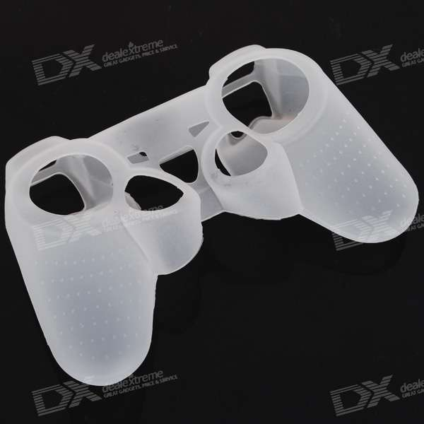 White Silicone Case for PS2 and PS3 Controllers