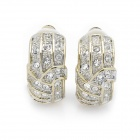 Shining Rhinestone Clip On Earring - Golden (Pair)