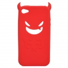 Devil Style Protective Silicone Back Case for Iphone 4 / 4S - Red