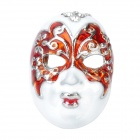 Beijing Opera Facial Masks Style Finger Rings - Red + White (2cm)