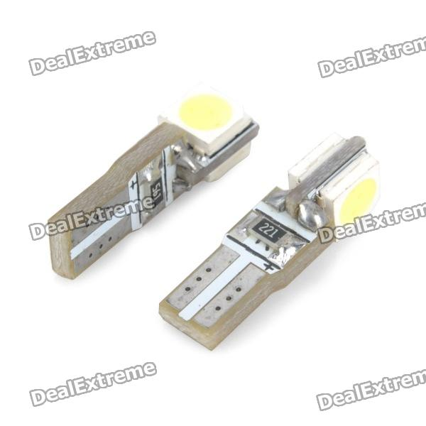 T5 2SMD 5050 White LED Car Light Bulb