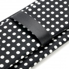 Casual Stylish Dot Pattern Tie Necktie - Black + White