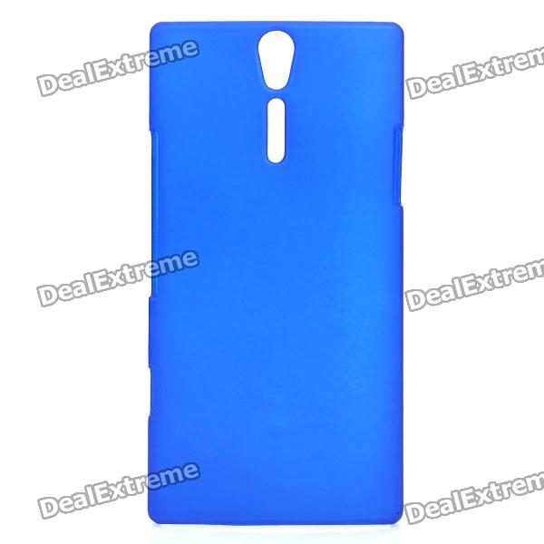 Protective Sand Blasting Plastic Back Case for Sony Ericsson Xperia S/LT26i - Blue cell phone brand new repair parts for sony xperia s lt26i backlight back light flex refurbishment replacement