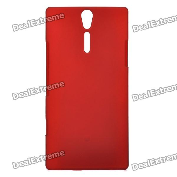 Protective Sand Blasting Plastic Back Case for Sony Ericsson Xperia S/LT26i - Red cell phone brand new repair parts for sony xperia s lt26i backlight back light flex refurbishment replacement