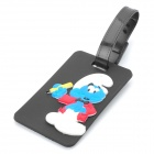 Cute The Smurfs Secure Travel Suitcase ID Luggage Tag - Black