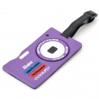 Nikon Camera Secure Travel Suitcase ID Luggage Tag Card Case - Purple
