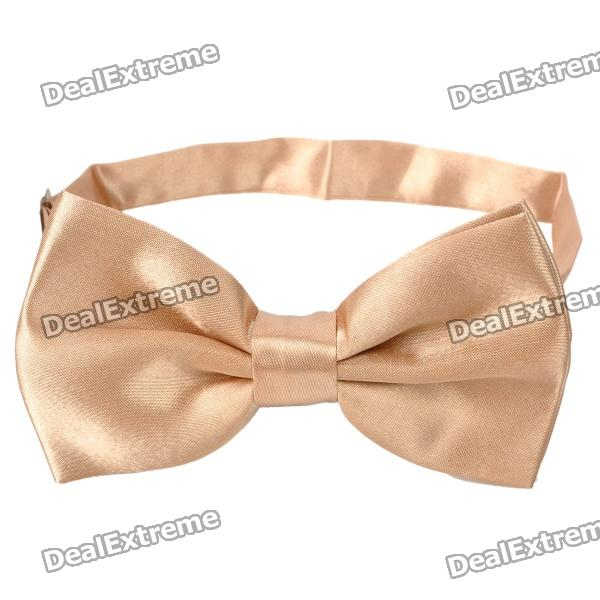 simple-silk-bow-tie-necktie-champagne