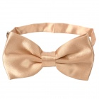 Simple Silk Bow Tie Necktie - Champagne