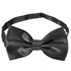 Simple Silk Bow Tie Necktie - Black