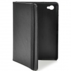 Protective PU Leather Case for Samsung P6800 - Black
