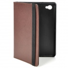 Protective PU Leather Case for Samsung P6800 - Brown