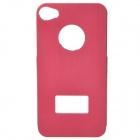 Protective Aluminum Alloy Back Case for iPhone 4 / 4S - Deep Red