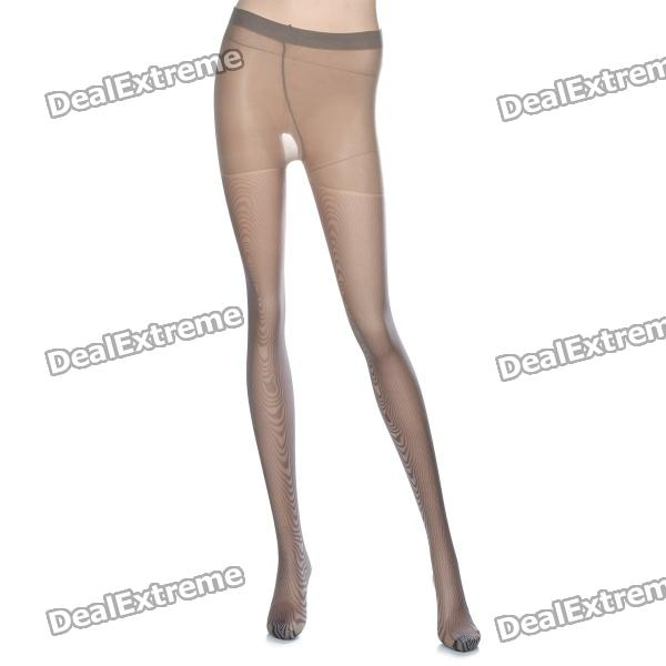 MAGICUTE Imprinted Zebra Phantom Stockings Tights Pantyhose - Grey + Purple