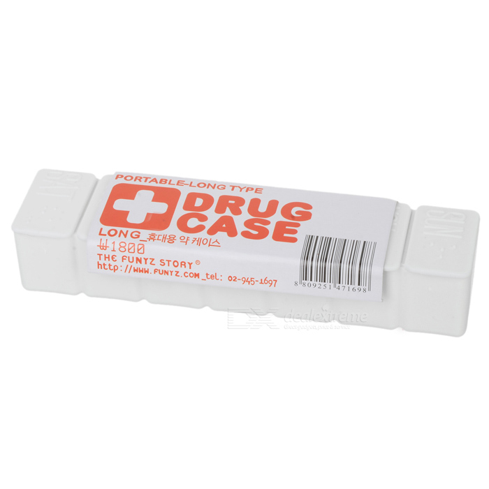 7-Day Plastic Pill Box Case Holder - White