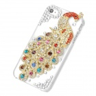 Colorful Peacock Pattern Protective Plastic Back Case for Iphone 4 / 4S