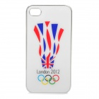 London 2012 Summer Olympics England Flag Logo Protective Case for iPhone 4 / 4S - White