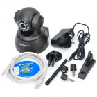 VSTARCAM F6836W Indoor Surveillance Security IP Network Camera with 10-LED IR Night Vision - Black